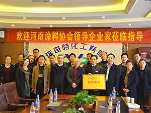 河南涂料协会领导企业家位临指导